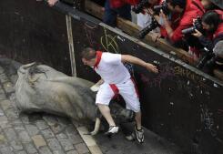 Complicado encierro de los toros de José Escobar