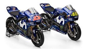 Rossi y Viñales presentan la nueva Yamaha en Madrid