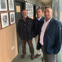Los representantes del Atlético Antoniano, el día del sorteo