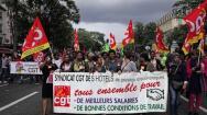 Los sindicatos franceses se manifiestan contra la reforma laboral de Macron