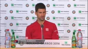 Roland Garros - Djokovic, tras ganar a Lu