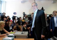 La jornada electoral en Austria, en imágenes