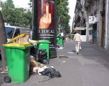La basura se adueña de las calles de París antes de la Eurocopa