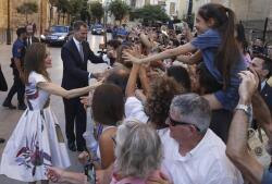 Baño de masas de los Reyes en Palma de Mallorca