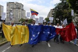 La histórica marcha de la oposición en Caracas, en imágenes