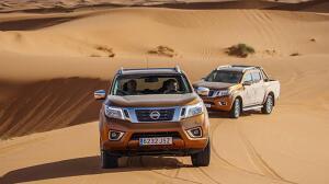 El Nissan Navara se desenvuelve como pez en el agua en el desierto marroquí