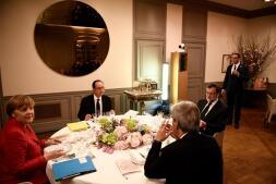 La cena en Versalles de los líderes de Europa