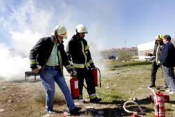 Imágenes del curso de los bomberos de Toledo