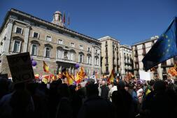 La manifestación contra el secesionismo en Barcelona