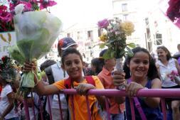 La ofrenda floral del Corpus, en imágenes