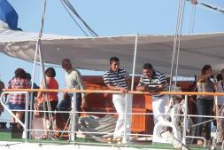 Las imágenes del primer día de la Regata de Grandes Veleros en el Puerto de Cádiz