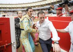 Así ha sido la cogida de Gonzalo Caballero en la Feria de Santander