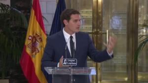 Rivera dice que 100 de las 150 medidas ya se firmaron con PSOE