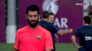 Entranamiento del Barça plagado de bajas
