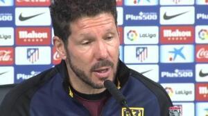 """Simeone: """"No creo que nuestra afición vea el clásico, estarán pensando en nuestro partido"""""""