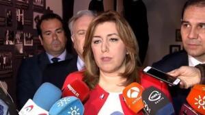 """Susana Díaz: """"Gracias al PSOE se acaban las políticas dañinas del PP"""""""