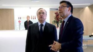 Clima distendido entre Bertoméu y Florentino Pérez antes del clásico