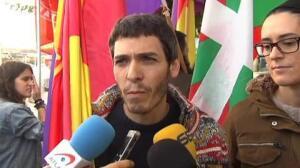 Protesta por la presencia de los reyes en San Sebastián