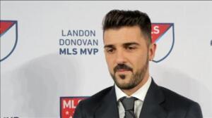 David Villa, el mejor jugador de la liga estadounidense