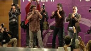 """Errejón, recibido por militantes de Podemos en Palma al grito de """"fuera, fuera"""""""