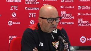 """Sampaoli pide a la afición """"que no nos distraiga lo externo, que nos aliente para ganar al Real Madrid"""""""