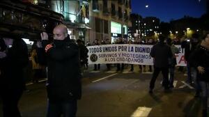 """Los Mossos d'Esquadra y urbanos protestan por la """"dignidad policial"""" en Barcelona"""