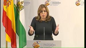 """Susana Díaz sobre el apoyo del PSOE a los presupuestos: """"No creo que eso se vaya a producir. No soy optimista"""""""