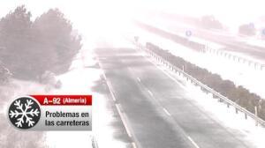 La nieve también llega a Andalucía oriental