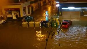 Noche de tormenta en Málaga