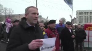 """Protestas en Bielorrusia en contra de la """"ley de los parásitos sociales"""""""