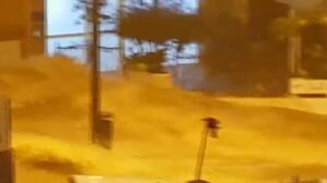 Las lluvias en Málaga convierten la carretera de Cerrado de Calderón en un barranco