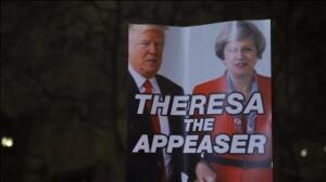 Miles de personas protestan contra Donald Trump durante el 'Día del Presidente'