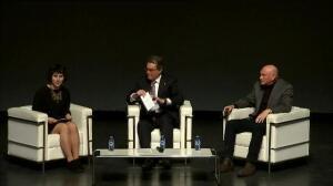 Artur Mas y Juan José Ibarretxe, juntos en un acto por el derecho a decidir en San Sebastián