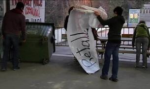 SEGUNDO DÍA DE PROTESTAS ESTUDIANTILES EN BARCELONA