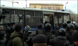 Decenas de detenidos en Rusia en manifestaciones contra Putin