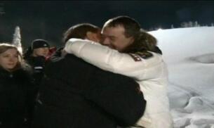 Putin, Medvedev y Berlusconi, juntos en la nieve