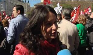 Multitudinario manifestación en contra de la reforma laboral