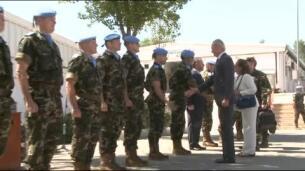 El ministro de Defensa en funciones visita a las tropas desplegadas en Líbano