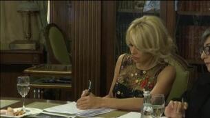 Pamela Anderson visita el Kremlin por su defensa de los animales