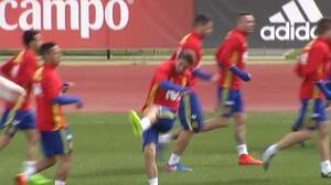 La Selección Española prepara el partido contra Israel
