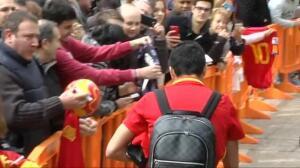 La selección española ya está en Gijón, bajo un fuerte despliegue de seguridad