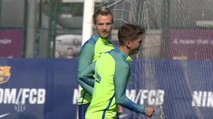 Rakitic y Mascherano vuelven a entrenar con el Barça tras el parón de las selecciones