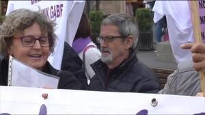 """Mujeres y hombres se manifiestan en Vitoria con el lema """"Nos queremos vivas"""""""