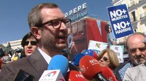 Concentración en la Puerta del Sol contra el Gobierno de Nicolás Maduro