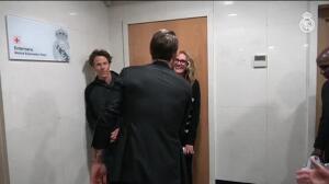 Julia Roberts visita el Bernabéu con su familia
