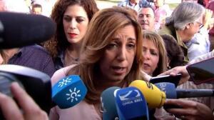 """Susana Díaz sobre la dimisión de Aguirre: """"Ha llegado tarde y mal"""""""