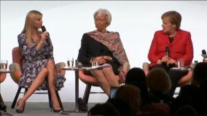Angela Merkel, Christine Lagarde e Ivanka Trump, reunidas