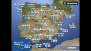 Previsión del tiempo para este miércoles 14 de abril