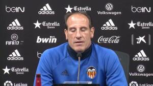 """El Valencia se prepara """"con ilusión"""" para el partido con R.Madrid"""
