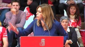 """Susana Díaz: """"No me van a acomplejar ni la derecha ni la izquierda inútil"""""""